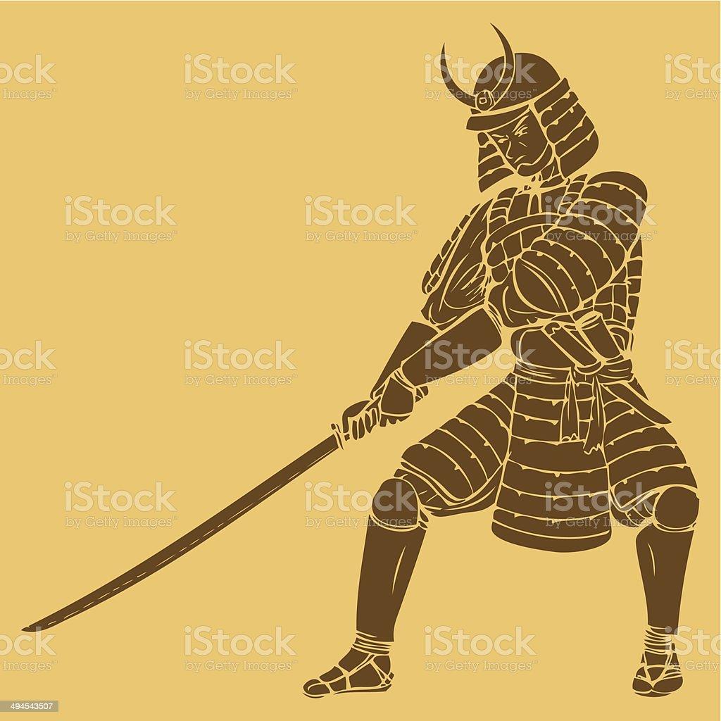 Samurai royalty-free stock vector art