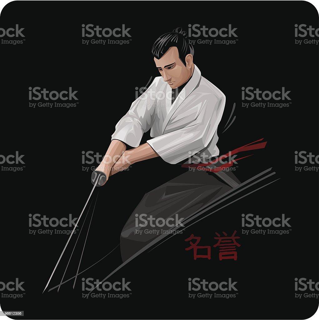 Samurai - Royaltyfri Aggression vektorgrafik