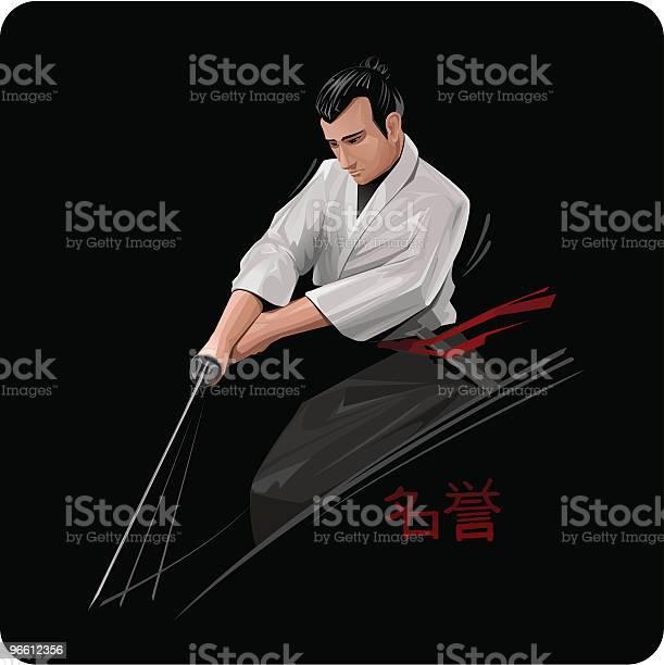 Samurai-vektorgrafik och fler bilder på Aggression