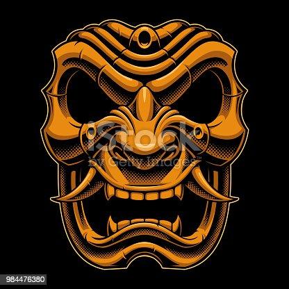 Samurai warrior mask