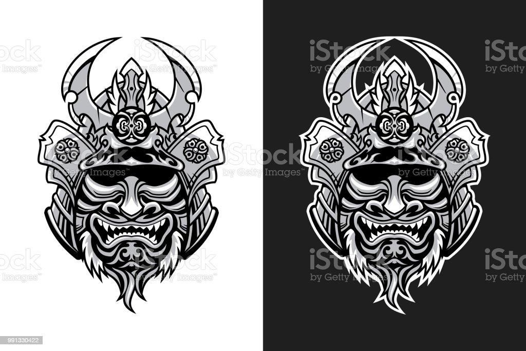 Masque De Guerrier Samourai Cliparts Vectoriels Et Plus D Images
