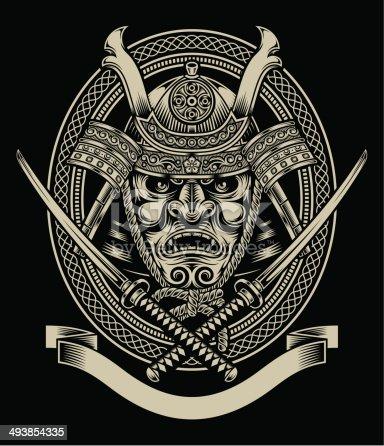 istock Samurai Warrior With Katana Sword 493854335