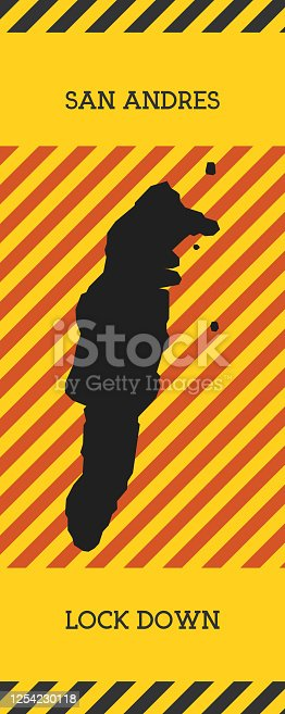 istock San Andres Lock Down Sign. 1254230118