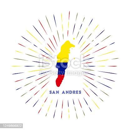 istock San Andres sunburst badge. 1249866922