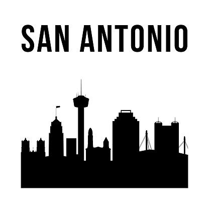 San Antonio city simple silhouette. Modern urban background. Vector skyline.