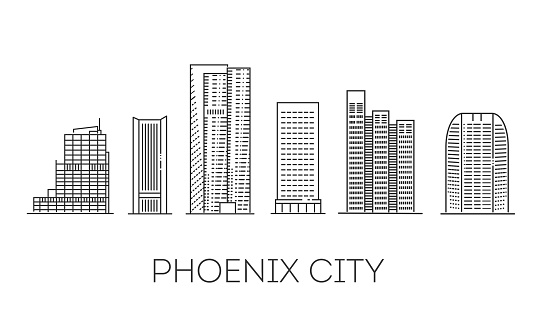 San Diego architecture line skyline illustration. Linear vector cityscape with famous landmarks.