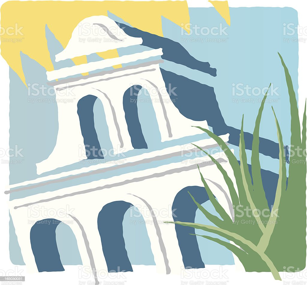 San Diego Architecture royalty-free stock vector art