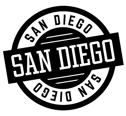 San Diego black and white badge