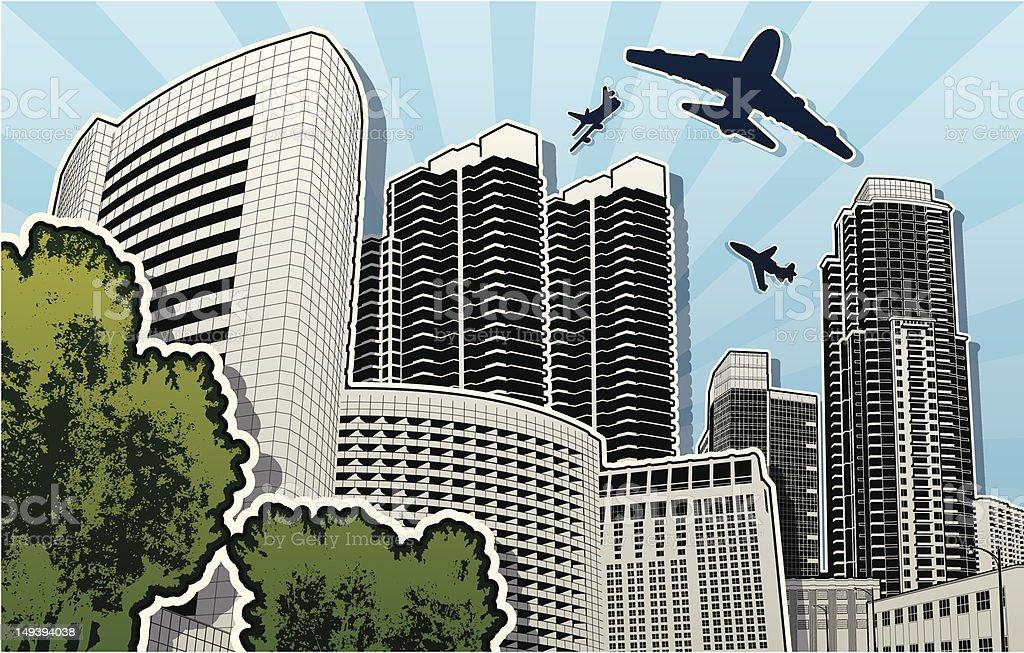 San Diego Buildings royalty-free stock vector art