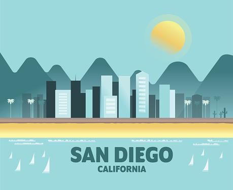 San Diego Skyline - Iconic Illustrations of Cities