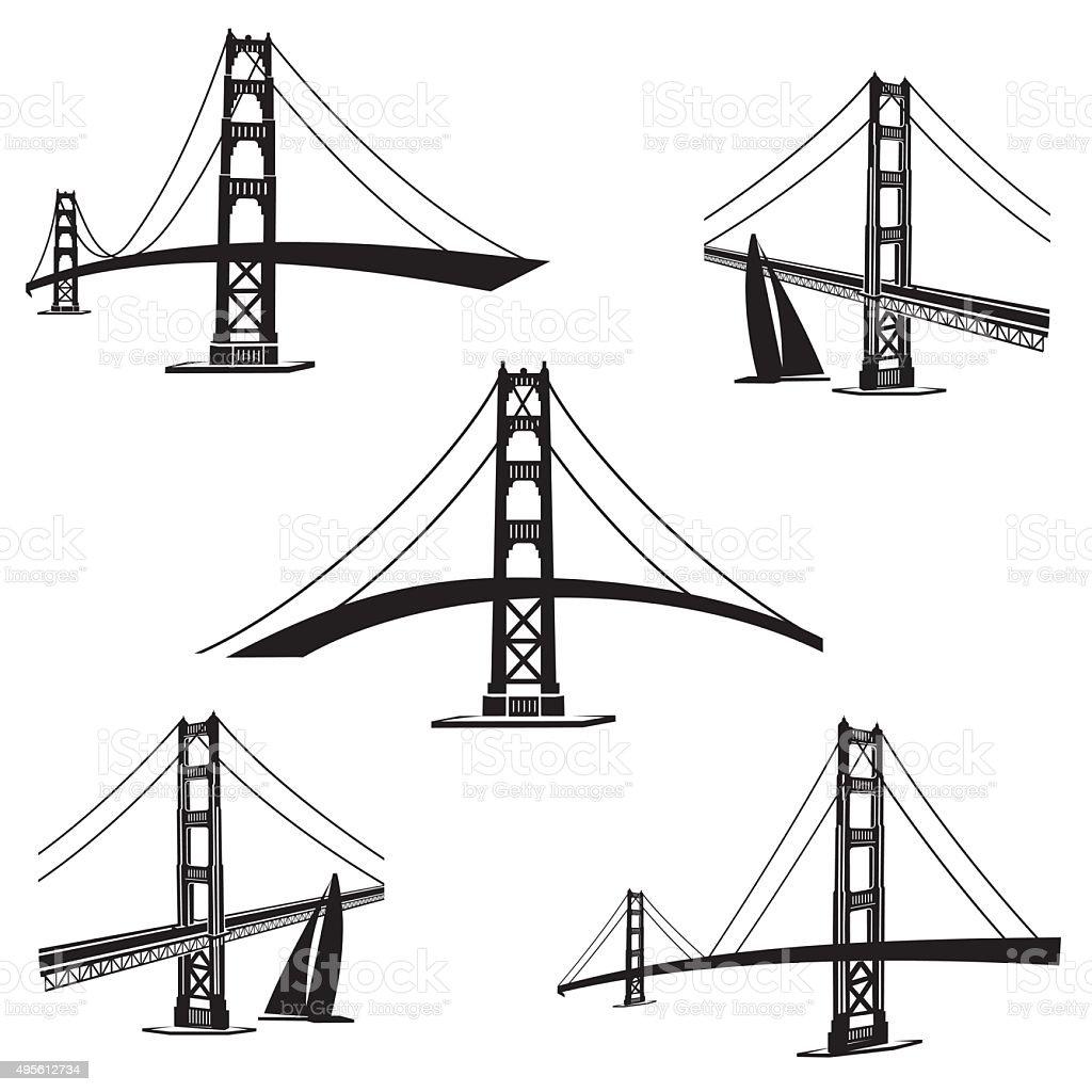 San Francisco 2 vector art illustration