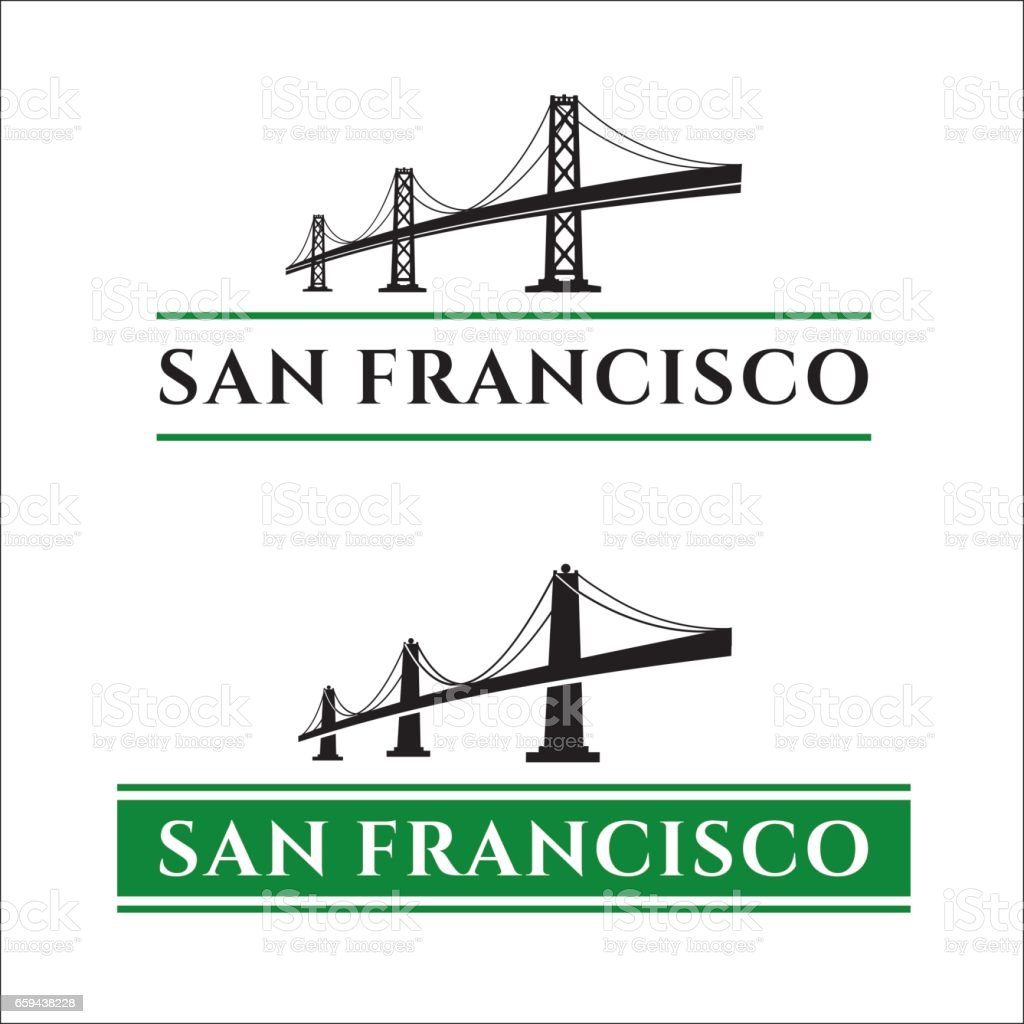 San Francisco Bridge vector art illustration
