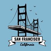 San Francisco Bridge vector poster