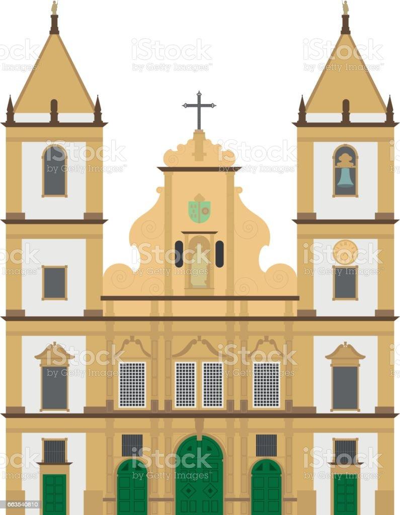 Igreja de São Francisco, Salvador da Bahia, Brasil Vector illustration. - ilustração de arte em vetor