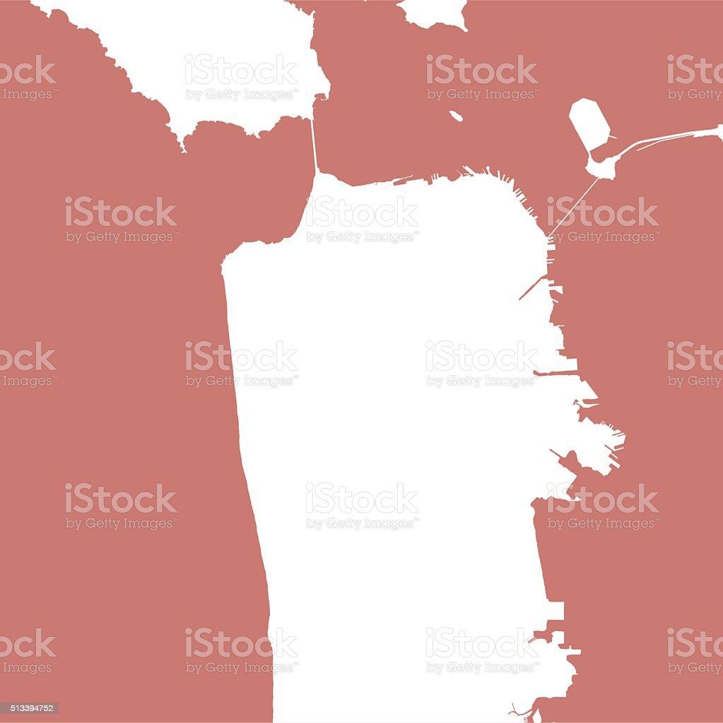San Francisco City Map Outline stock vector art 513394752 iStock