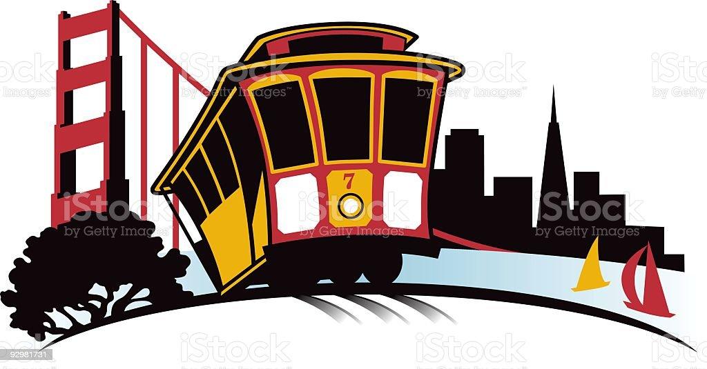 San Francisco cityscape royalty-free stock vector art