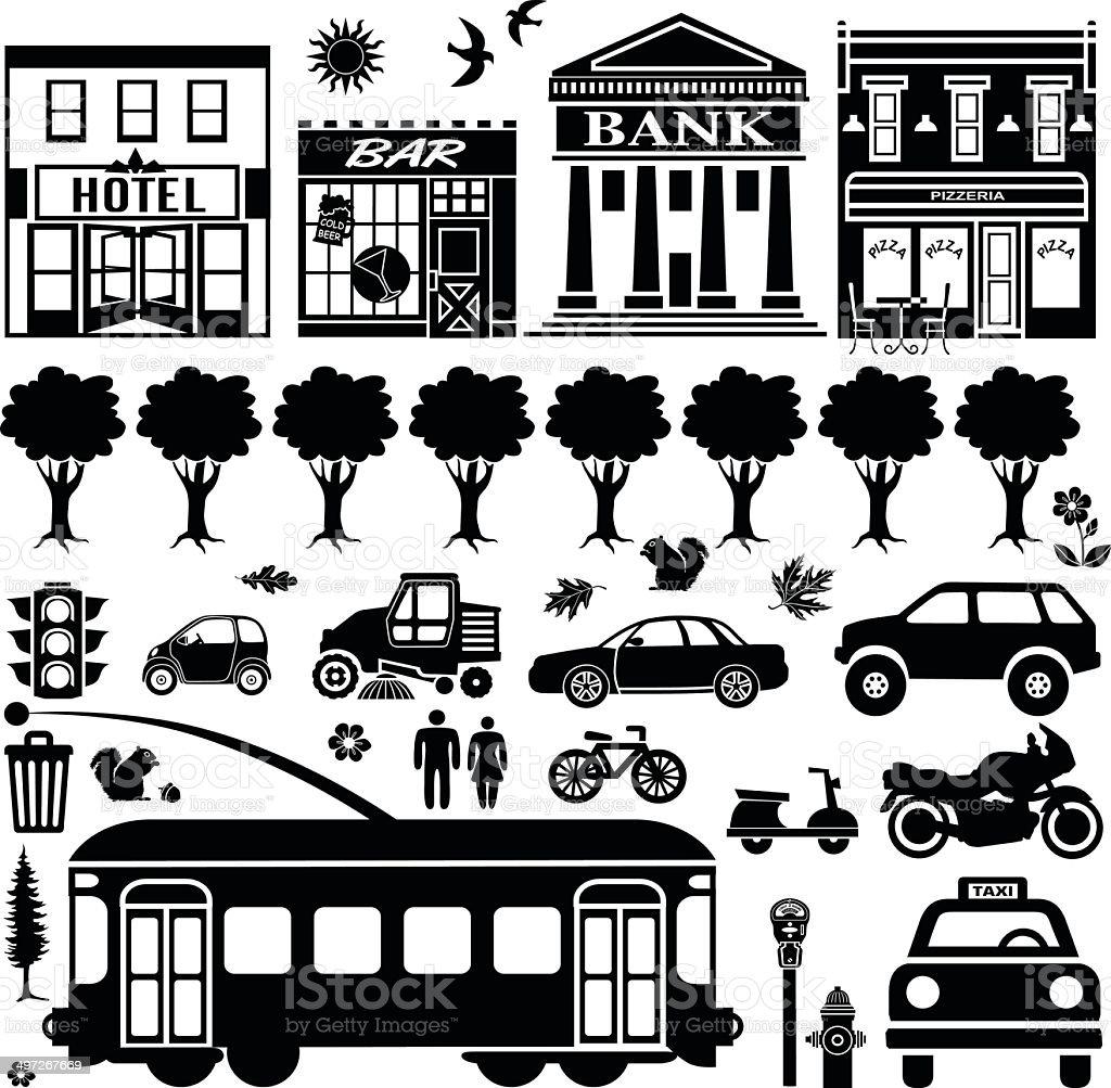 San Francisco design elements vector art illustration