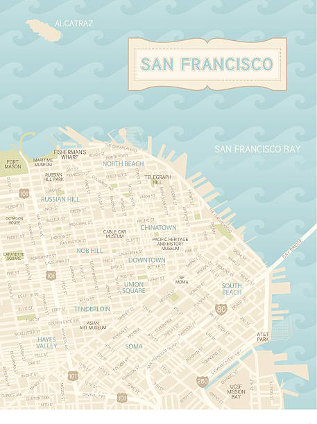Royalty Free San Francisco California Clip Art Vector Images - San francisco map vector free download