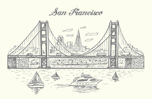 Royalty Free Golden Gate Bridge Clip Art Vector Images