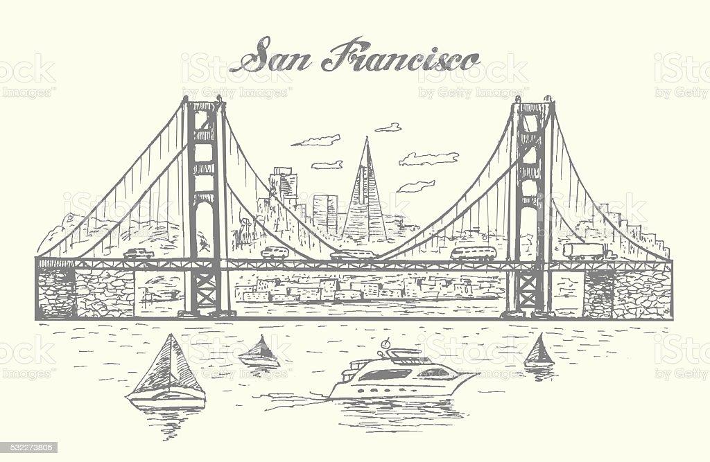 royalty free golden gate bridge clip art  vector images  u0026 illustrations