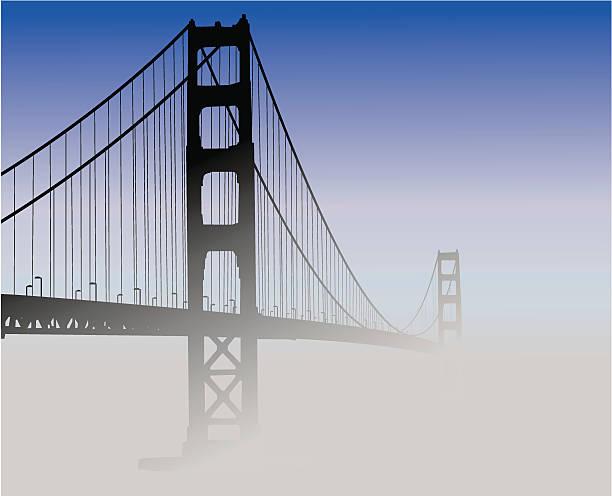 San Francisco Golden Gate Bridge vector art illustration