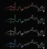 San Francisco Multiple Color Light Beam Profile
