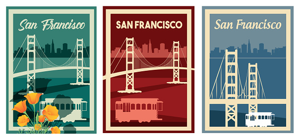 San Francisco Poster and Golden Gate