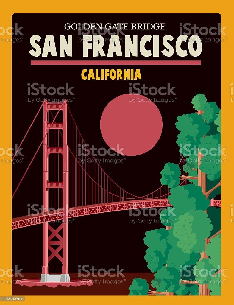 San Francisco Poster vector art illustration