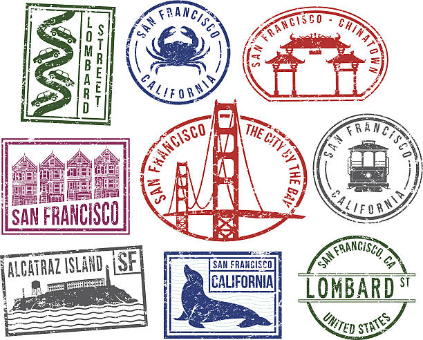 Royalty Free Lombard Street San Francisco Clip Art Vector