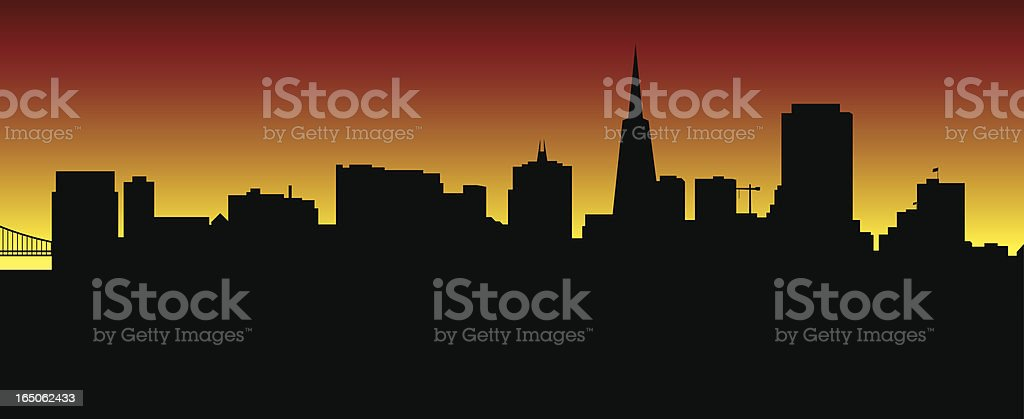San Francisco Skyline royalty-free san francisco skyline stock vector art & more images of bridge - built structure