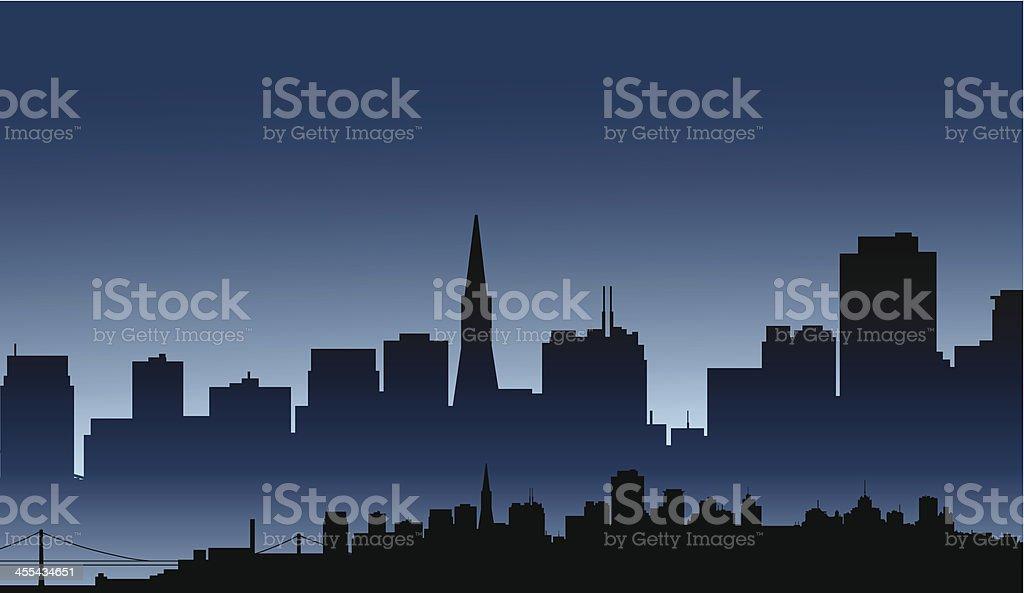 San Francisco Skyline royalty-free stock vector art