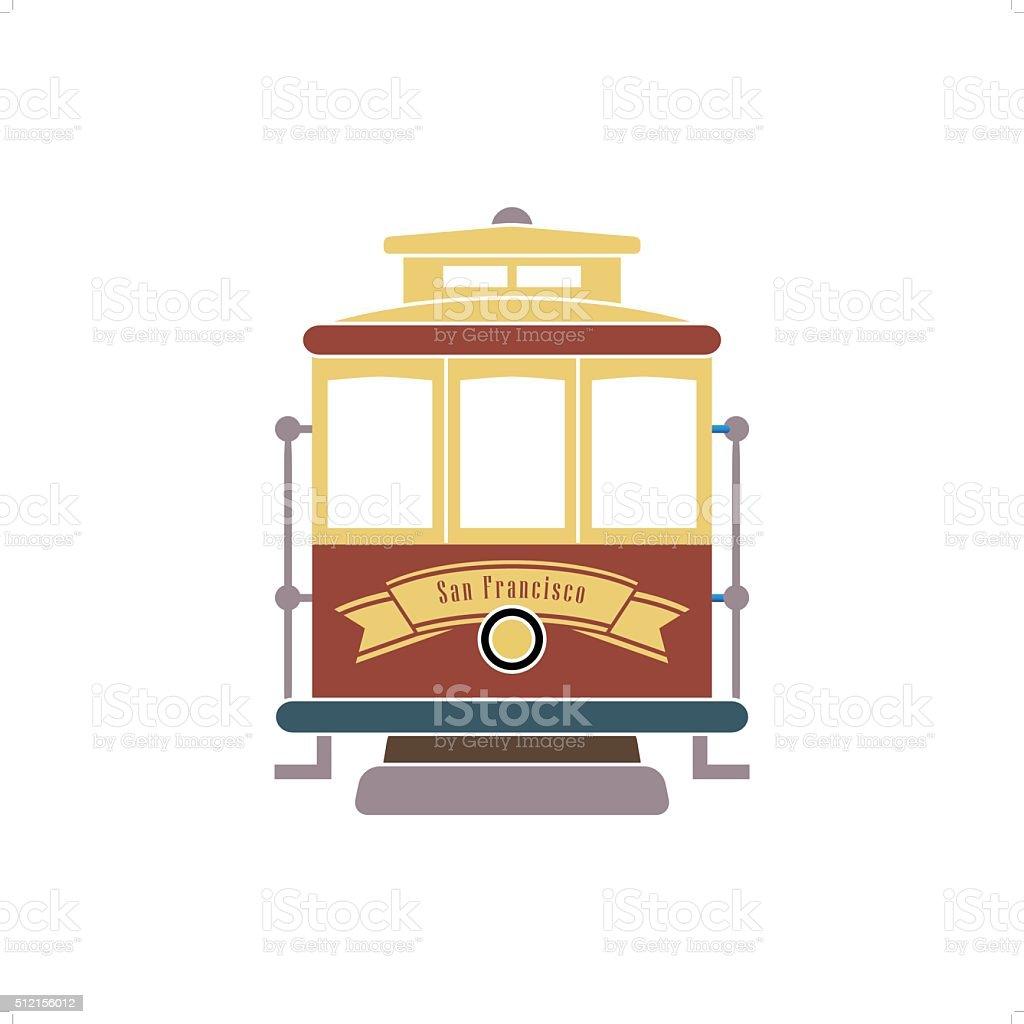 San Francisco Streetcar vector art illustration