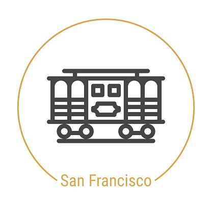 San Francisco, United States Vector Line Icon