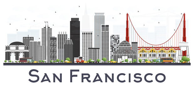 San Francisco USA City Skyline.