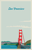 Poster of retro colors, flat illustration with a simple style. Easy color change