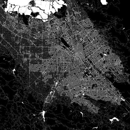 San Jose, California, United States of America Vector Map