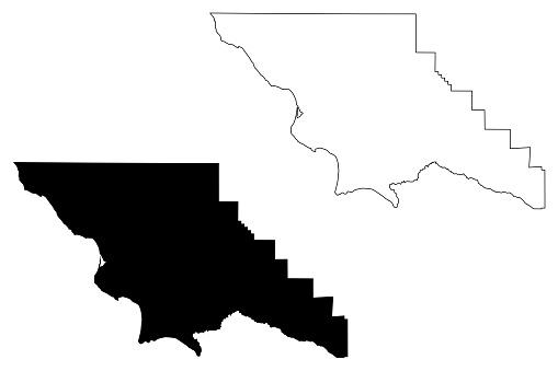 San Luis Obispo County, California map vector