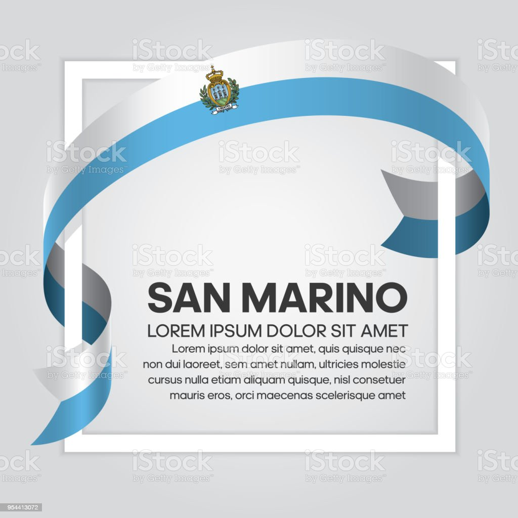 San Marino flag background vector art illustration