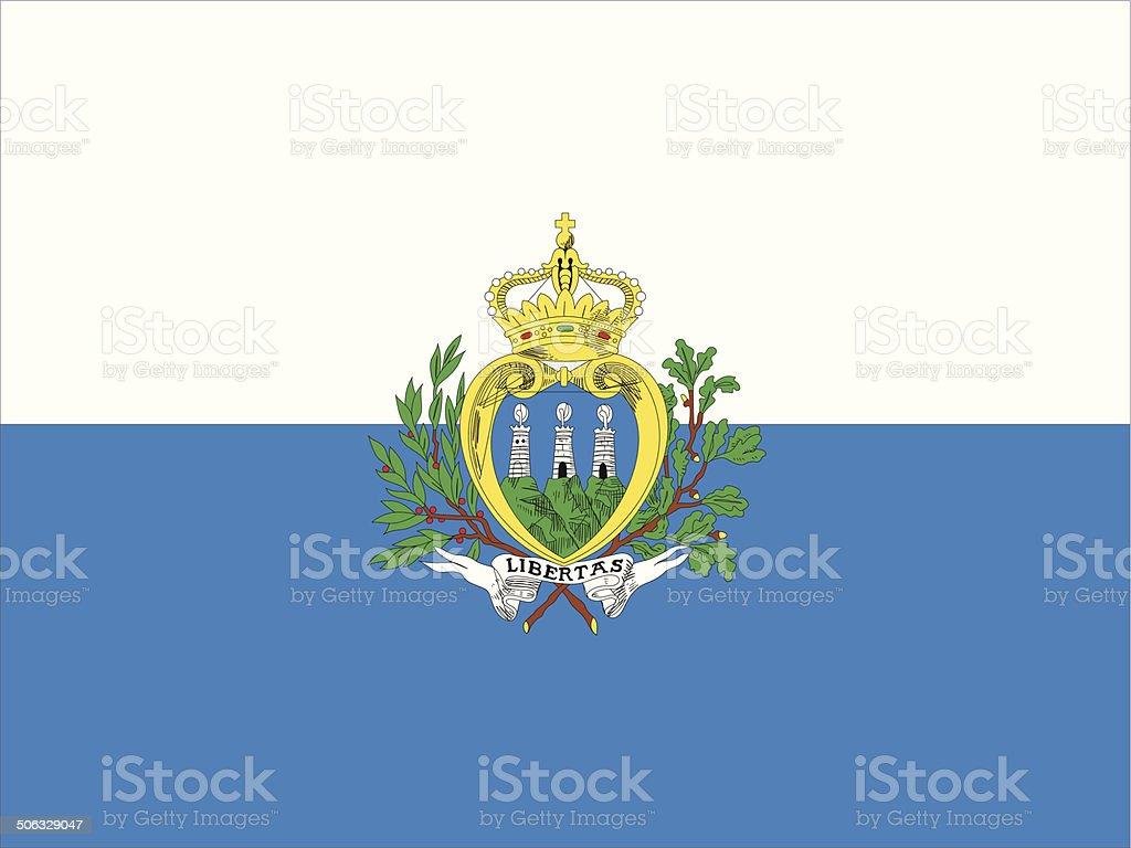 San Marino Flag vector art illustration