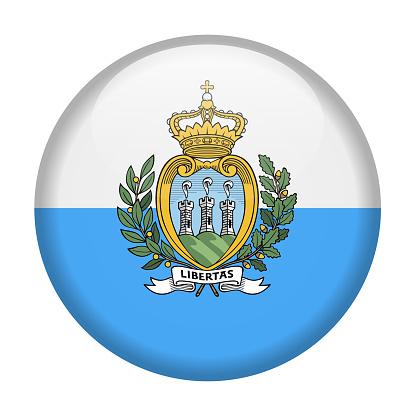 San Marino Flag Vector Round Icon Stock Illustration - Download Image Now -  iStock