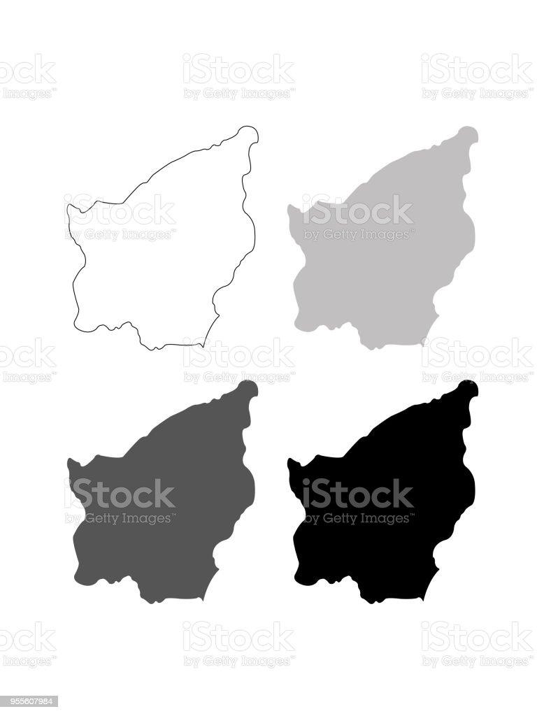 San Marino maps vector art illustration