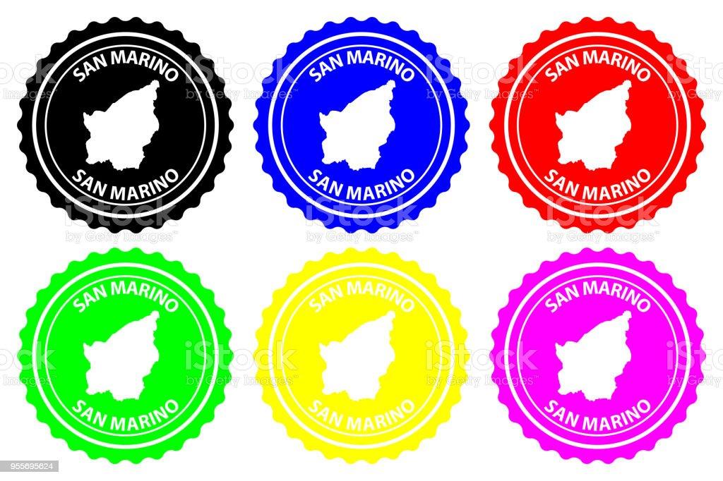 San Marino rubber stamp vector art illustration