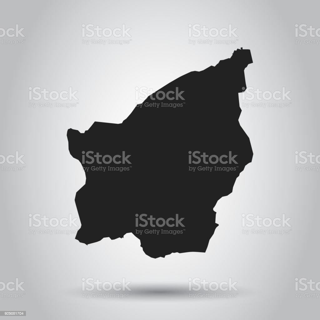 San Marino vector map. Black icon on white background. vector art illustration