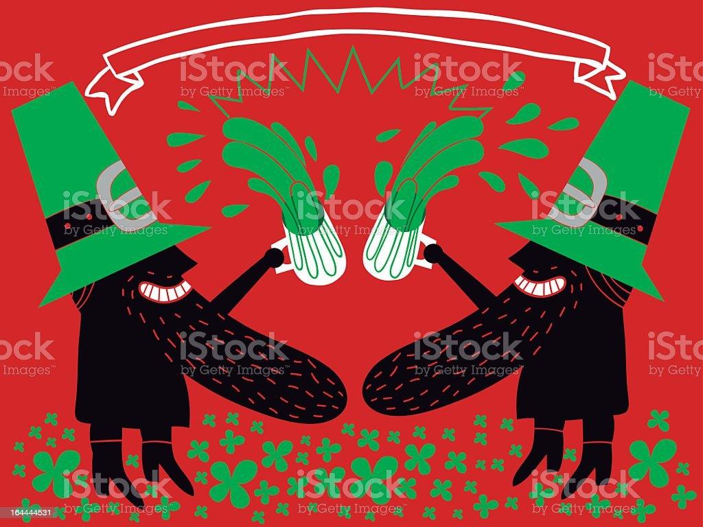 san patrick toast vector art illustration