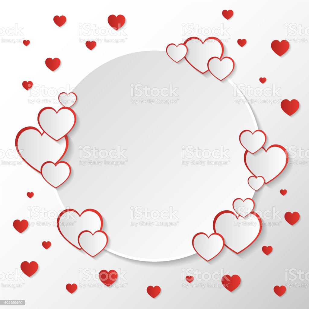 San valentine invitation card composition with white circle space to san valentine invitation card composition with white circle space to writing message text or name stopboris Choice Image