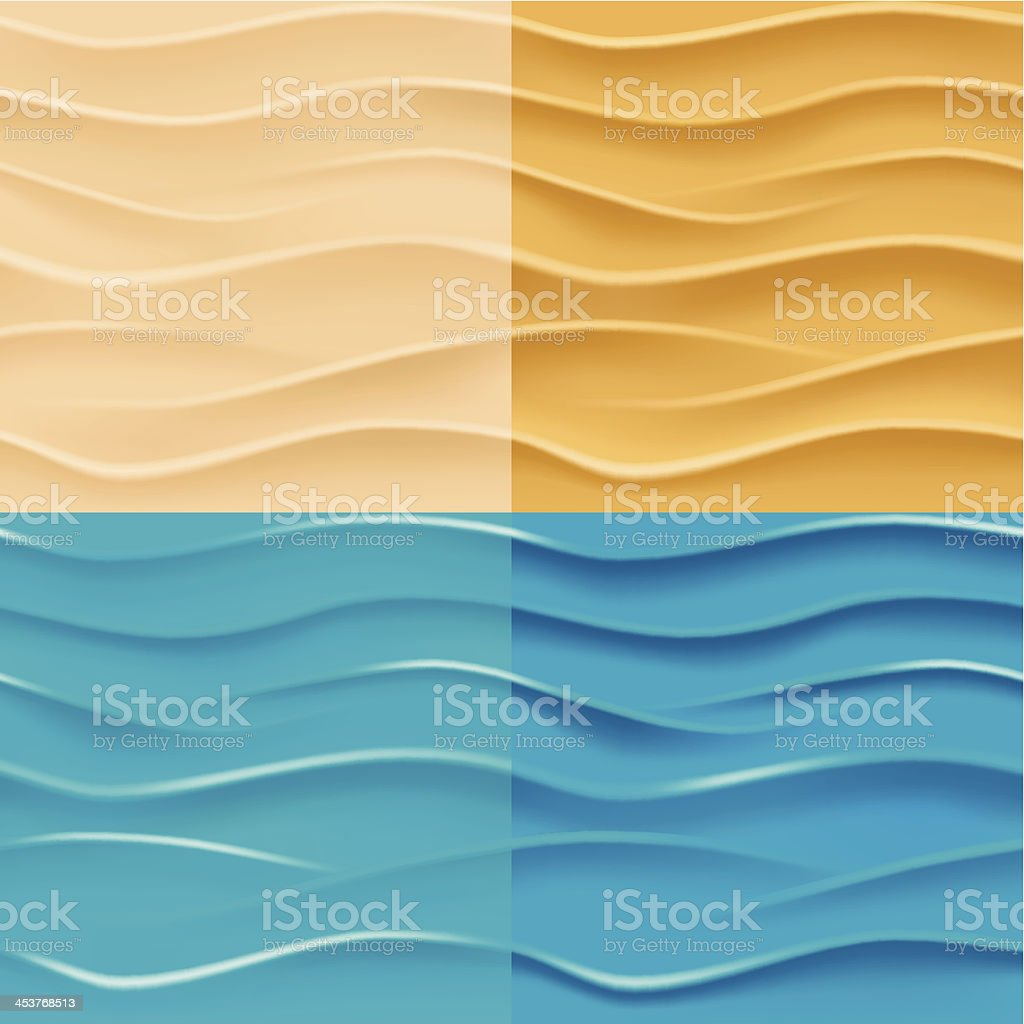 Sand and water background. vector art illustration