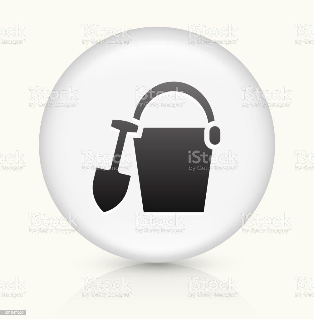 Sand Bucket icon on white round vector button vector art illustration