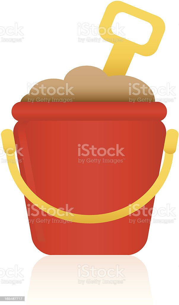 Sand Bucket vector art illustration