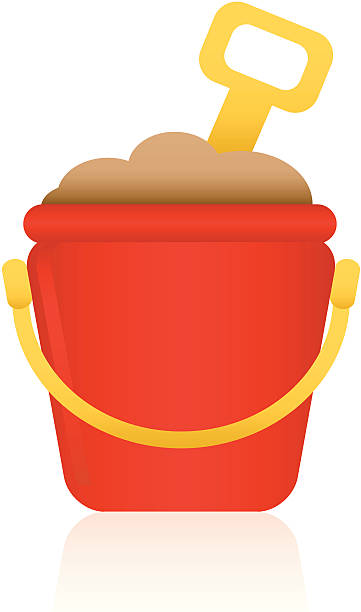 Sand Bucket vector art illustration