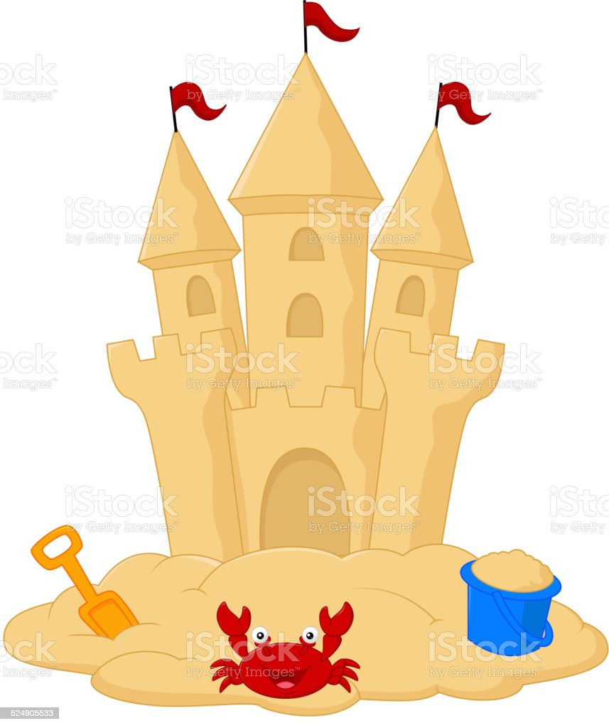 royalty free sand castle clip art vector images illustrations rh istockphoto com sand castle clip art images sand castle clipart png